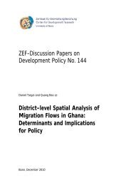 District-level Spatial Analysis of Migration Flows - ZEF