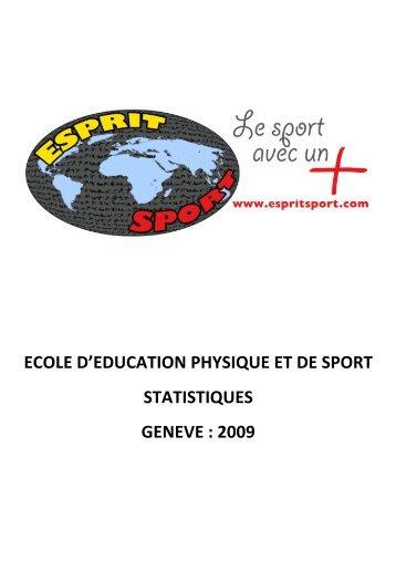 Statistiques - Esprit Sport