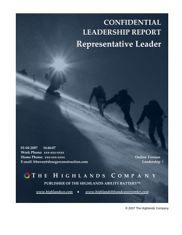 Representative Leader - The Highlands Company