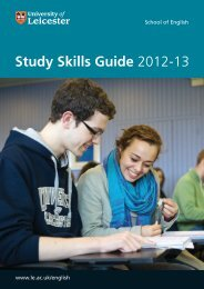 Study Skills Guide 2012-13 - University of Leicester
