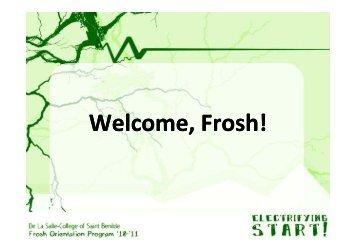Frosh Orientation Program 2010