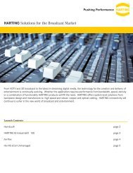 HARTING Solutions for the Broadcast Market - HARTING USA
