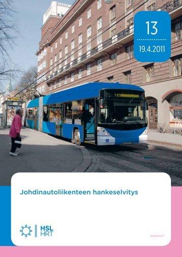 Johdinautoliikenteen hankeselvitys - HSL