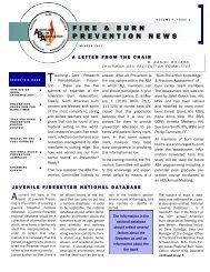 FIRE & BURN PREVENTION NEWS - American Burn Association