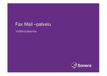 Fax Mail –palvelu - Sonera