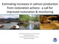 Estimating increases in salmon population metrics from habitat ...
