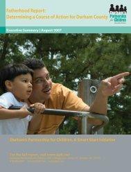 Fatherhood Report - Durham's Partnership for Children