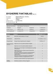 Bygherre Faktablad - Byggeriets Evaluerings Center