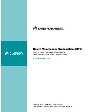 Kaiser Permanente Combined Disclosure Form ... - At Your Service