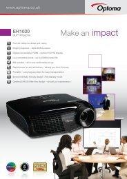 EH1020 Brochure - Optoma