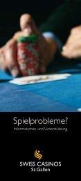 Spielprobleme? - Swiss Casinos