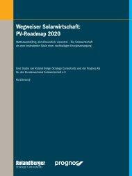 Wegweiser Solarwirtschaft: PV-Roadmap 2020 - Bundesverband ...
