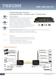 VOS-2HD-ADT/R Datasheet - Fiber Optic Transmitter