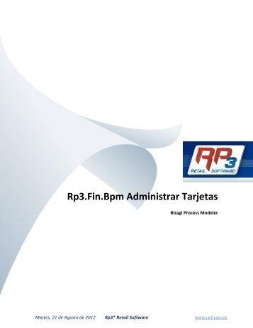 Administrar Tarjetas - RP3 Retail Software
