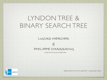LYNDON TREE & BINARY SEARCH TREE