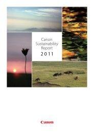 Canon Sustainability Report 2011