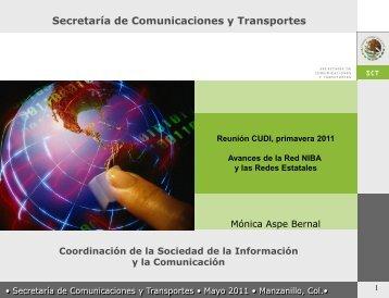 Avances en Redes Estatales - Primavera 2009