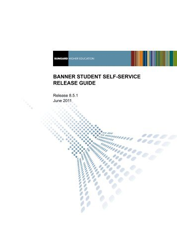 Banner Student Self-Service / Release Guide / 8.5.1