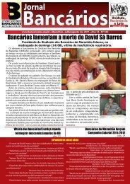 Bancários lamentam a morte de David Sá Barros - Sindicato dos ...