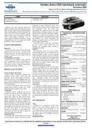 Holden Astra CDX hatchback automatic