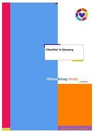 Checklist 1e lijnszorg - Telfort