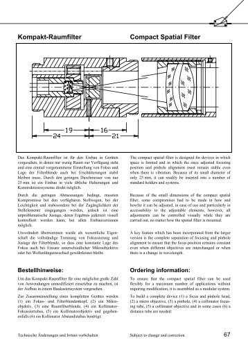 Kompakt-Raumfilter Compact Spatial Filter - Bernhard Halle