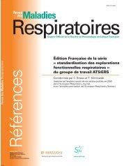 Explorations fonctionnelles respiratoires - SPLF