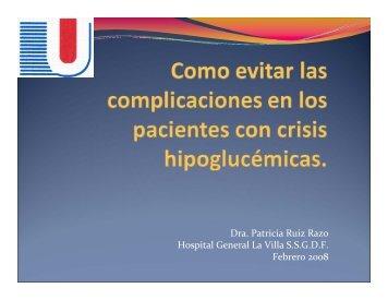 Crisis Hipoglucemicas - Reeme.arizona.edu