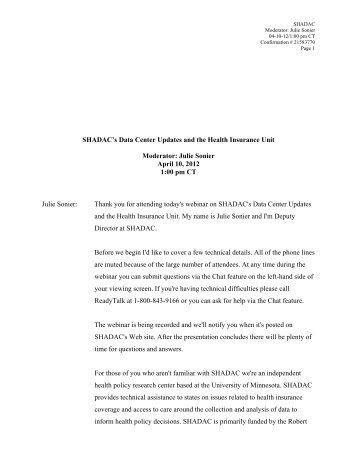 Transcript PDF - Shadac