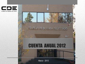 CUENTA ANUAL 2011 - Consejo de Defensa del Estado