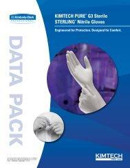 KIMTECH PURE* G3 Sterile STERLING* Nitrile Gloves Data Pack