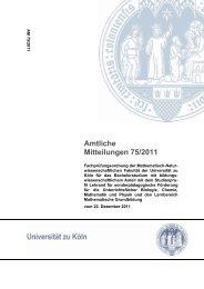 Lehramt für sonderpädagogische Förderung - Amtliche Mitteilungen ...