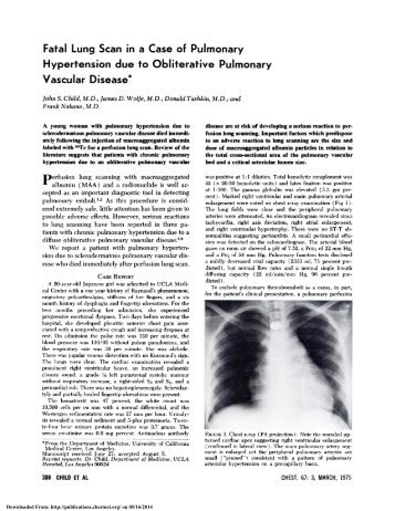 Fatal Lung Scan in a Case of Pulmonary Hypertension due to ...