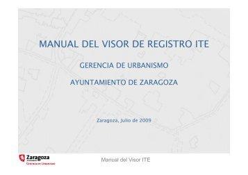 MANUAL DEL VISOR DE REGISTRO ITE - Ayuntamiento de Zaragoza