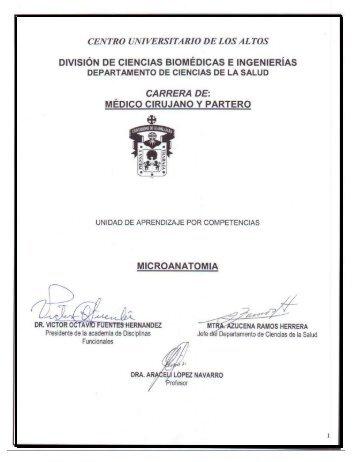 Microanatomía - Centro Universitario de los Altos - Universidad de ...