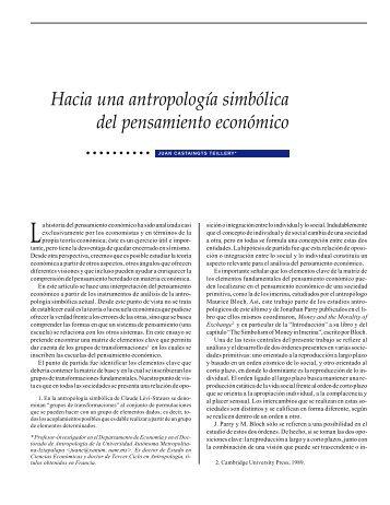 Hacia una antropología simbólica del pensamiento económico