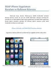 Uygulamanın Kurulum ve Kullanım Kılavuzuna (PDF) - EKAP