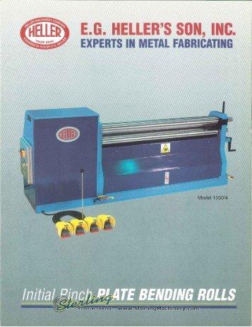 heller initial pinch plate bending rolls general brochure - Sterling ...