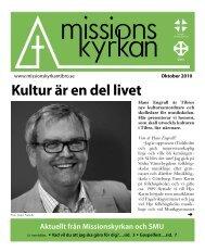 Kultur är en del livet - Missionskyrkan Tibro