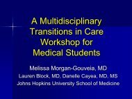 A Multidisciplinary Transitions In Care Workshop For Medical Students