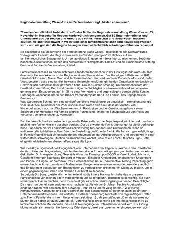 Familienfreundlichkeit trotzt der Krise - Emsländische Stiftung Beruf ...