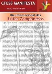 Leia aqui o CFESS Manifesta sobre as lutas camponesas
