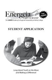 Student ApplicAtion - Molloy College