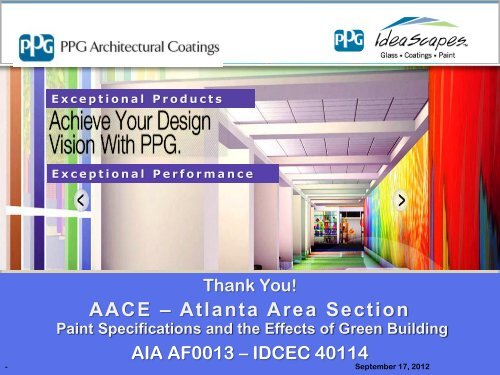 Paint Specifications and the Effects of Green Building - Atlanta Area ...