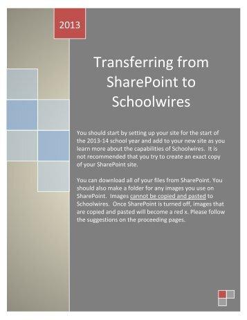 SharePoint Transfer Tips