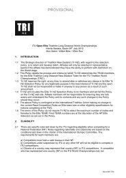 Long Distance Elite Selection Policy 2012_PROVISIONAL