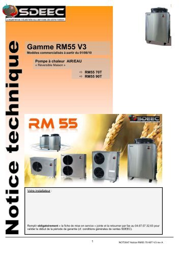 Gamme RM55 V3 - Sdeec