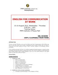 ENGLISH FOR COMMUNICATION AT WORK