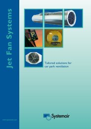 Jet Fan Systems - Systemair