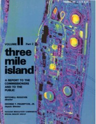 a sequence of physical events - Three Mile Island